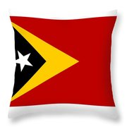 Timor-leste Flag Throw Pillow