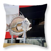 Tin Fish Throw Pillow