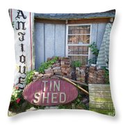 Tin Shed Apalachicola Florida Throw Pillow