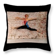 Shelly Ballet Jump Throw Pillow