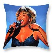 Tina Turner Queen Of Rock Throw Pillow