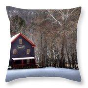 Tinglers Mill Paint Bank Throw Pillow