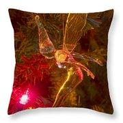 Tinker Bell Christmas Tree Landing Throw Pillow