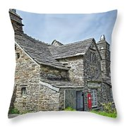 Tintagel Post Office  Throw Pillow
