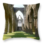 Tintern Abbey Nave Throw Pillow