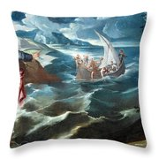 Tintoretto's Christ At The Sea Of Galilee Throw Pillow