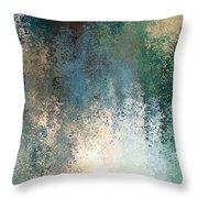 Tiny Blocks Digital Abstract - Cool Blues Throw Pillow