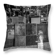 Tiny Dreamer Monochrome Throw Pillow