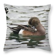 Tiny Duck Cleaning 4   # Throw Pillow