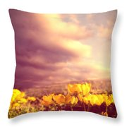 Tiny Flowers Throw Pillow by Bob Orsillo