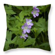 Tiny Flowers In The Forest Throw Pillow