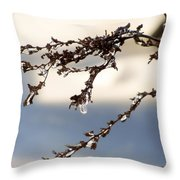 Tiny Icicles Throw Pillow