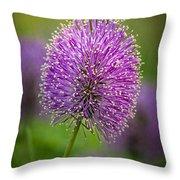 Tiny Purple Wildflower II Throw Pillow