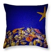 Tiny Sea Shells Throw Pillow