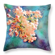 Tiny Spring Tree Blooms - Digital Color Change And Paint Throw Pillow