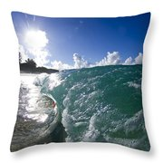 Tiny Tc Under The Lip Throw Pillow by Sean Davey