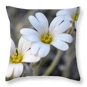 Tiny White Flowers #1 Throw Pillow