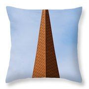 Tip Of The Tall Steeple Throw Pillow