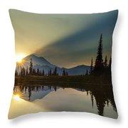 Tipsoo Rainier Sunstar Throw Pillow