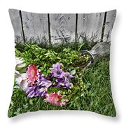 Tipsy Flowers Throw Pillow