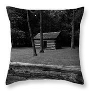Tipton Place In Cades Cove Throw Pillow