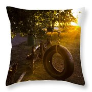 Tire Swing Throw Pillow