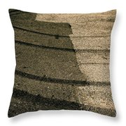 Tire Traces Beige Throw Pillow