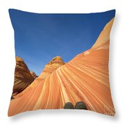Tired Hiker Paria Wilderness Arizona Throw Pillow