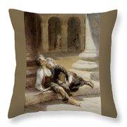 Tired Minstrels Throw Pillow