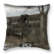 Where All The Tires Go Throw Pillow