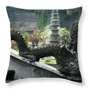 Tirta Gangga Bali Indonesia Throw Pillow