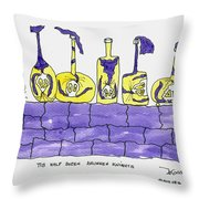 Tis Six Drunken Knights Throw Pillow