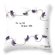 Tis Up Hill And Down Dale Throw Pillow