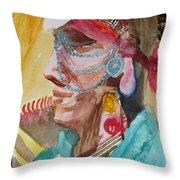 Water Healing Ceremonial Chief Yaz  Throw Pillow