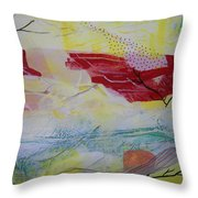 Tissue Paper Abstract 114 Throw Pillow