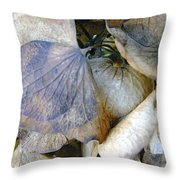 Tissue Paper Petals Throw Pillow