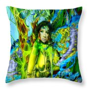 Titania-midsummers Night Dream Throw Pillow