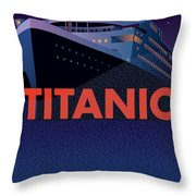 Titanic 100 Years Commemorative Throw Pillow