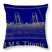 Titanic By Design Throw Pillow