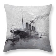 Titanic Leaving Southhampton Throw Pillow