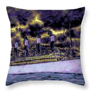 Titanic Screams Throw Pillow
