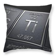 Titanium Chemical Element Throw Pillow