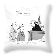 Dude Court Throw Pillow