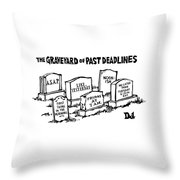 Title: Graveyard Of Past Deadlines.  A Graveyard Throw Pillow