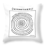 Title: Hypnotoon A Picture Of A Large Swirl - Throw Pillow