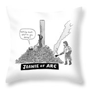 Title: Joanie Of Arc. A Teenage Joan Of Arc Rests Throw Pillow