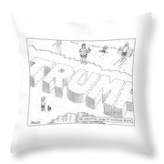 Title: The Formative Years At Rockaway Beach Throw Pillow
