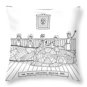Title: The Texas Chainsaw Quilting Bee.a Group Throw Pillow