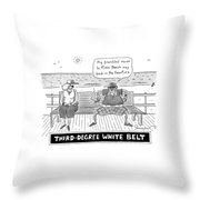 Title: Third Degree White Belt. An Old Man Throw Pillow