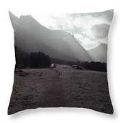 Titlis Fields And Farm Throw Pillow